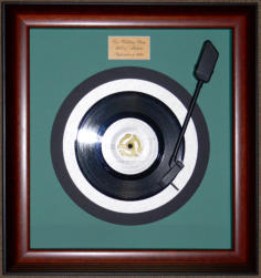frame with 45 rpm record