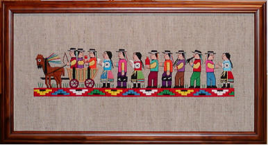 example of needlework framing without mat